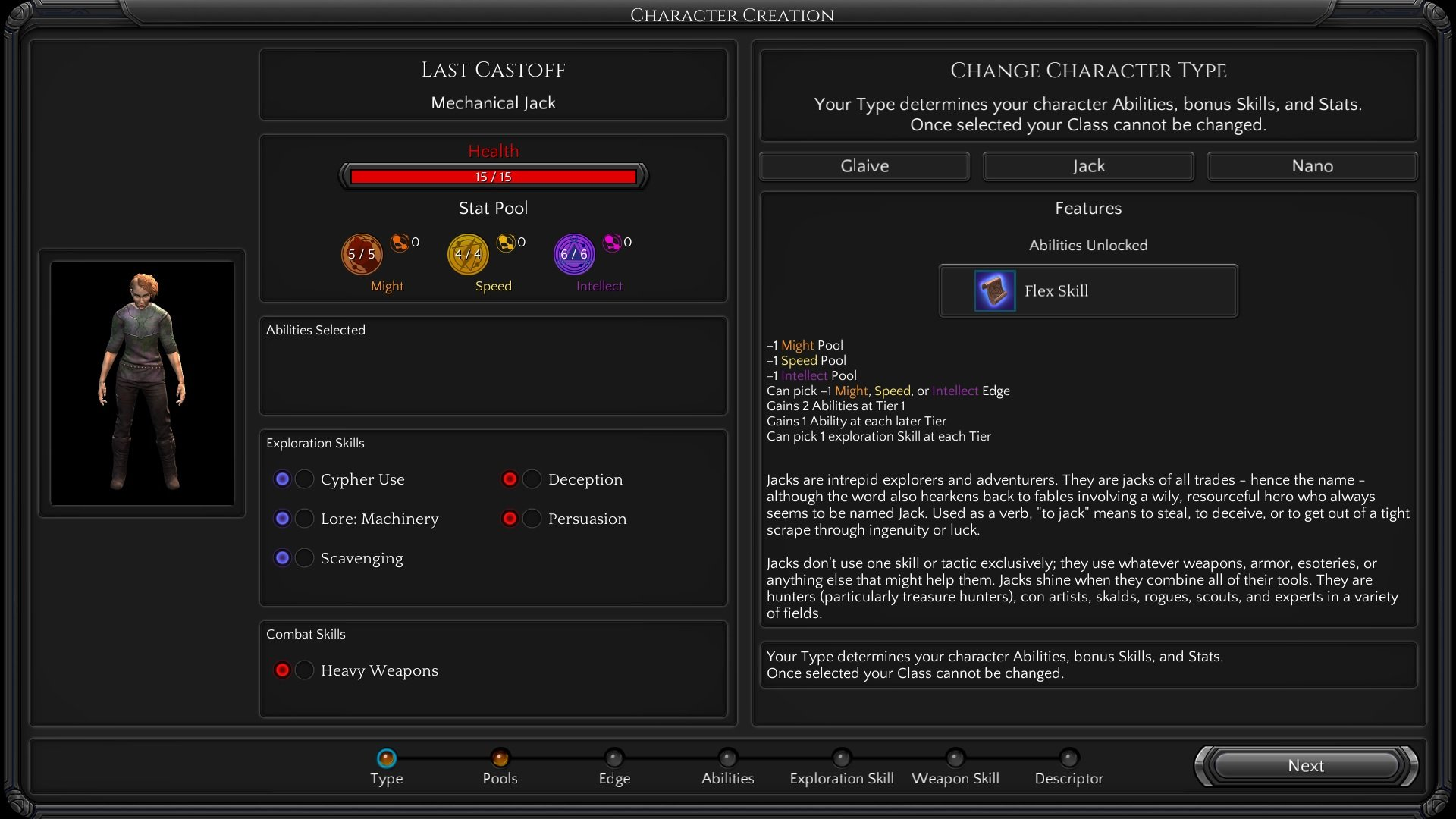 character creation torment tides of numenera wiki